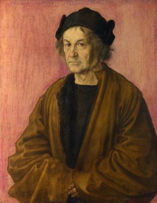 Albrecht Durer. Portrait of Albrecht dürer the Elder in the age of 70 years