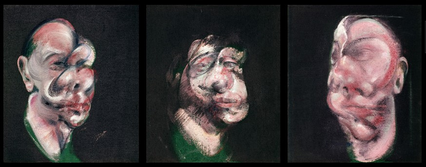 Francis Bacon. The sketch for three heads