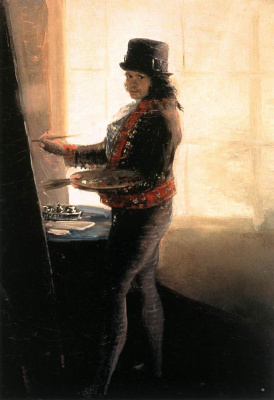 Франсиско Гойя. Автопортрет за работой