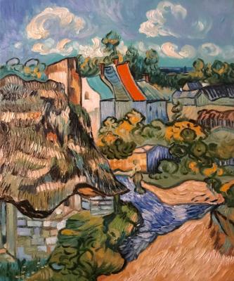 Inga Kotlyarskaya. Free copy of Vincent Van Gogh's House at Auvers