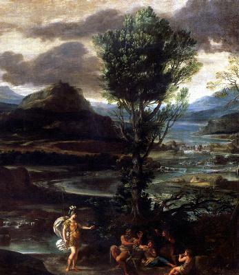 Доменикино . Эрминия с пастухами