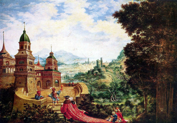 Albrecht Altdorfer. Poverty, perched on a plume of Arrogance