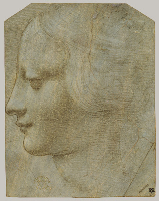 Leonardo da Vinci. Profile of a female head