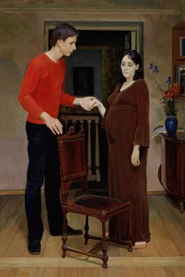 Дмитрий Дмитриевич Жилинский. Молодая семья