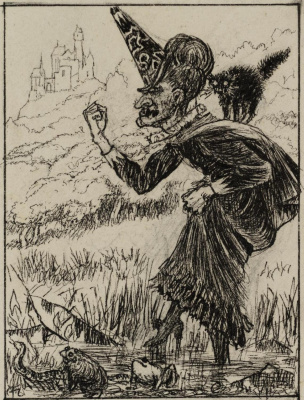 "Arthur Hughes. Evil fairy. ""Hyperborea or the country for the north wind"""