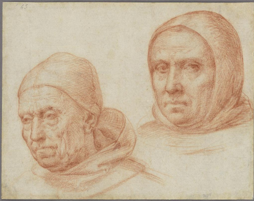 Фра Бартоломео. Heads of two Dominican monks