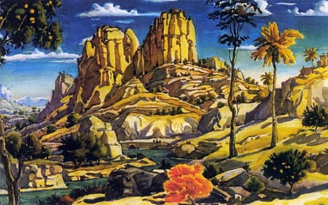 Konstantin Fedorovich Bogaevsky. The memory of Mantegna