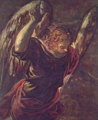 Jacopo Tintoretto. The Annunciation, detail