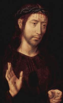 Hans Memling. Christ with crown of thorns