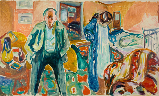 Edvard Munch. The artist and his model