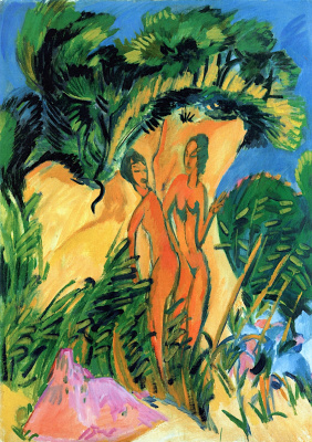Ernst Ludwig Kirchner. Bathers on the island of Fehmarn