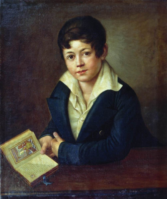 Alexander Grigorievich Varnek. Portrait of the poet Count A. K. Tolstoy at the age of 12 years. Tyumen Museum of Fine Arts