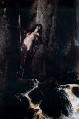 Arnold Böcklin. Woman in the dark