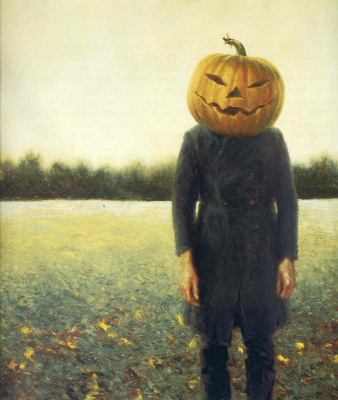 Jamie Wyeth. Pumpkin head. Self portrait