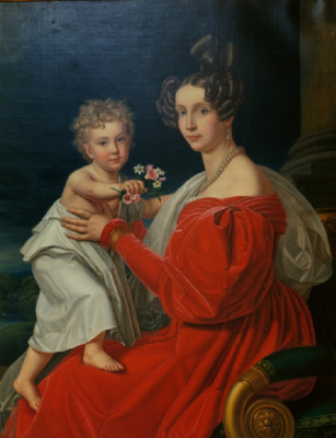 Josef Karl Styler. Princess Sophia of Bavaria with her eldest son Franz Joseph