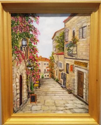 Ольга Болеславовна Горпинченко. Nice street in Montenegro