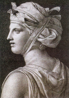 Jacques-Louis David. The woman in the turban