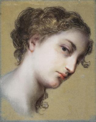 Розальба Каррьера (Каррера). Голова молодой темноволосой женщины