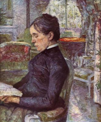 Henri de Toulouse-Lautrec. Adéle de Toulouse-Lautrec in the salon at Malromé