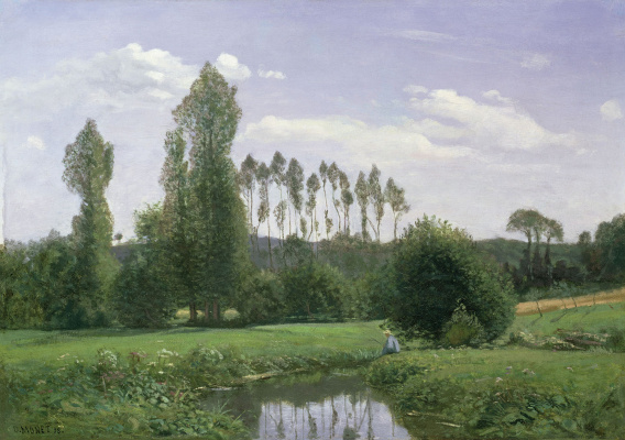 Claude Monet. View near Ruel-Le-Havre