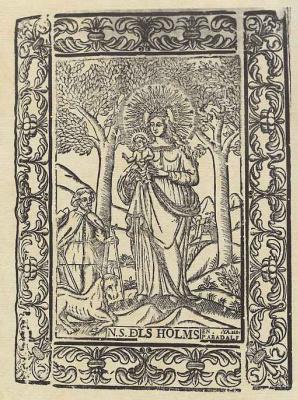 Пере Абадаль. Дева Мария под вязами