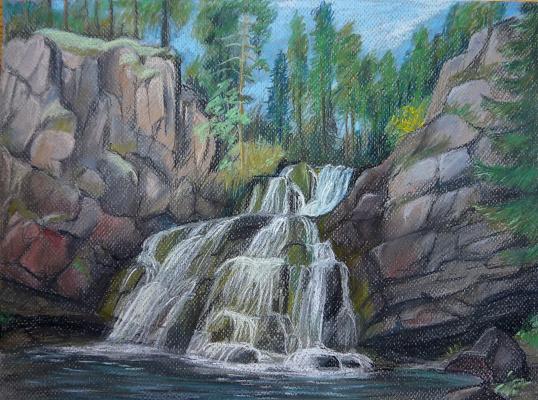 """Irina Soboleva. Waterfall """"Mantykoski"""" in the Park """"Paanajarvi"""""""