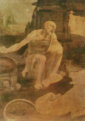 Леонардо да Винчи. Святой Иероним в пустыне