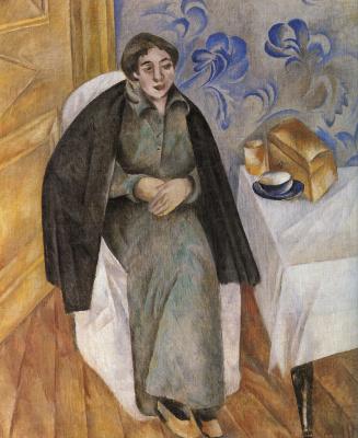 Александр Васильевич Шевченко. Портрет женщины в зеленом платье. 1913