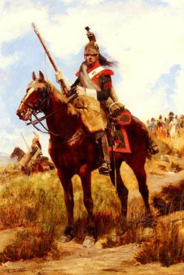 Жан Батист Эдуард Детай. Верхом на коне