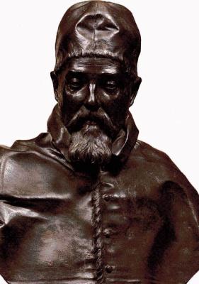Gian Lorenzo Bernini. Bust of Pope urban VIII