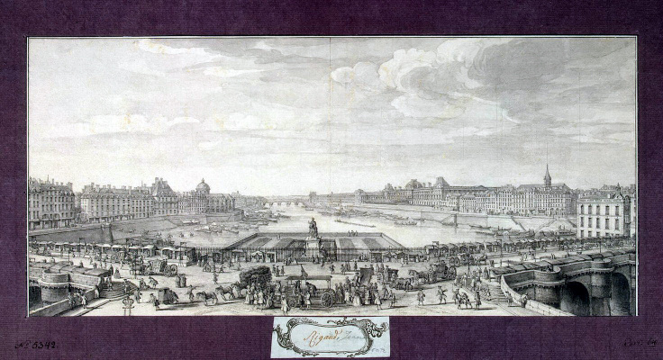 Жак Риго. Вид на Сену с Нового моста