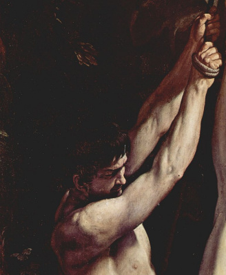 Guido Reni. The crucifixion of St. Peter, detail