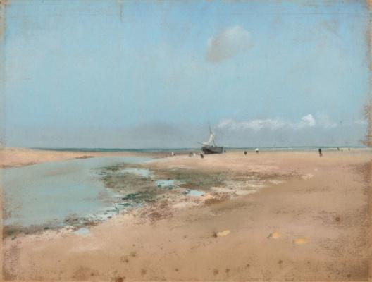 Edgar Degas. The beach at low tide