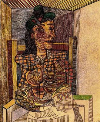 Пабло Пикассо. Портрет сидящей Доры Маар