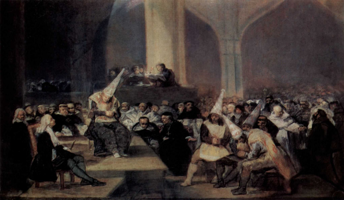 Francisco Goya. The Tribunal of the Inquisition