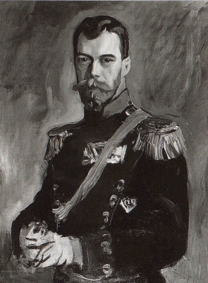 Portrait of Emperor Nicholas II in the uniform of the 80th infantry General - field Marshal Prince A. I. Baryatinsky Kabardian regiment