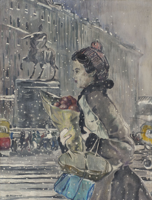 Yuri Ivanovich Pimenov. Winter in Moscow