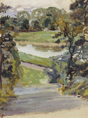 Spring etude. 1893 Sketch
