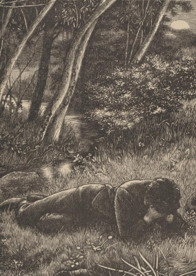 "Arthur Hughes. ""Song of Songs"". I will die, and the grass will continue to grow ..."