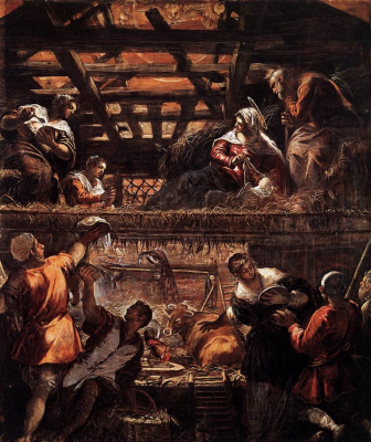Jacopo (Robusti) Tintoretto. Shepherds worship