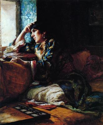 Фредерик Артур Бриджмен. Марокканская женщина