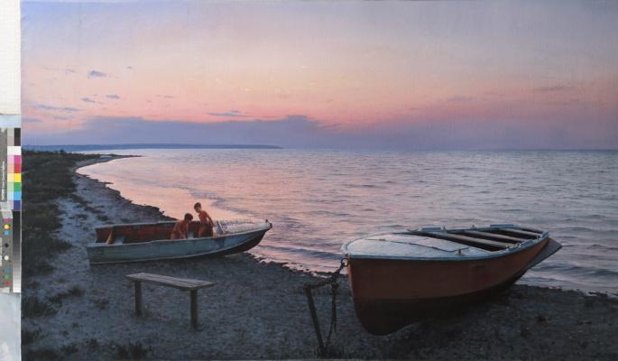 Valentin Revelioti. Evening on the Tiligul estuary