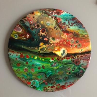 Catherine Tselikova. Planet of Salvador Dali. fluid art