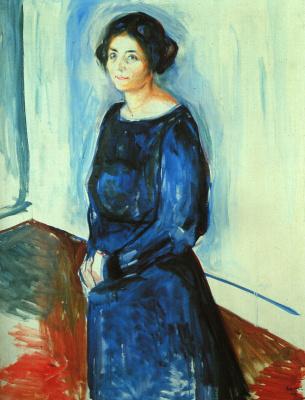 Edvard Munch. Woman in blue (Frau Barth)