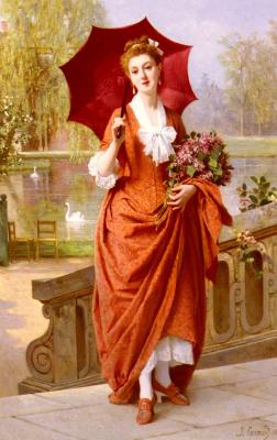 Иосиф Карауд. Красный зонт