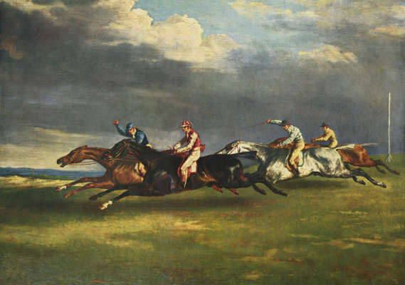 Théodore Géricault. Horse racing at Epsom