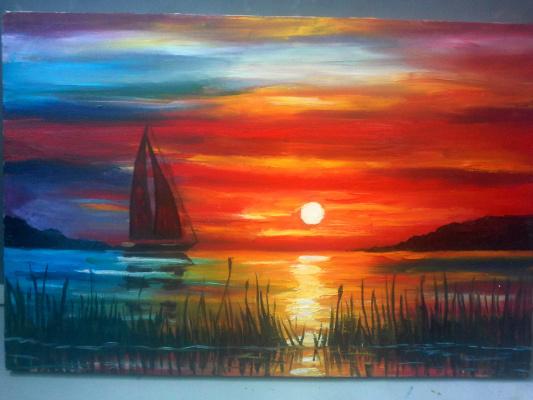 Olga Suncheleeva. Sunset