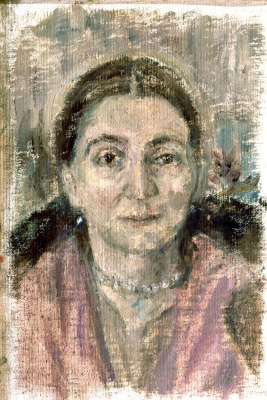 Sergey Mikhailovich Romanovich. Portrait of M.A. Spendiarova in pink