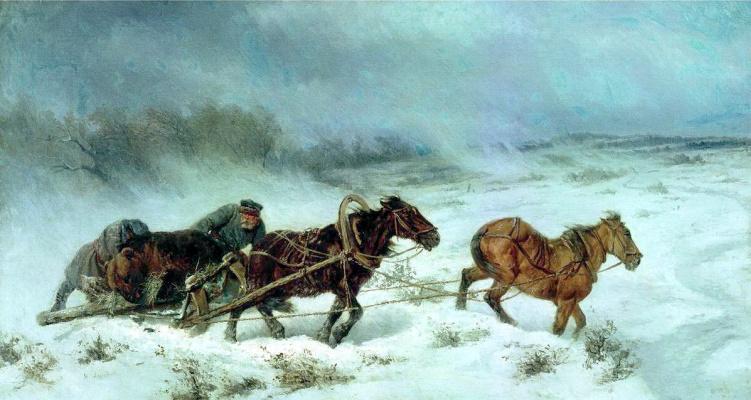 Николай Егорович Сверчков. Охота на медведя
