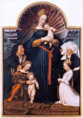 Ганс Гольбейн Младший. Мадонна с семейством бургомистра Майера